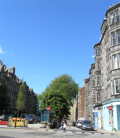 Roseneath Place from Warrender Park Road