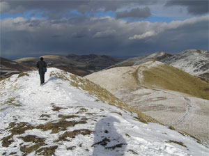Walk in the Pentland Hills, south of Edinburgh